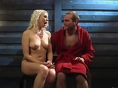 Nasty Blonde Lorelei Lee Likes Tormenting Her Slaveboy. Hd